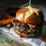 Coffee Rubbed Burgers with Dr Pepper Sauce  