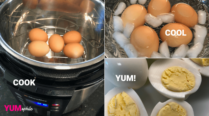 Perfect 5 Minute Pressure Cooker Hard Boiled Eggs